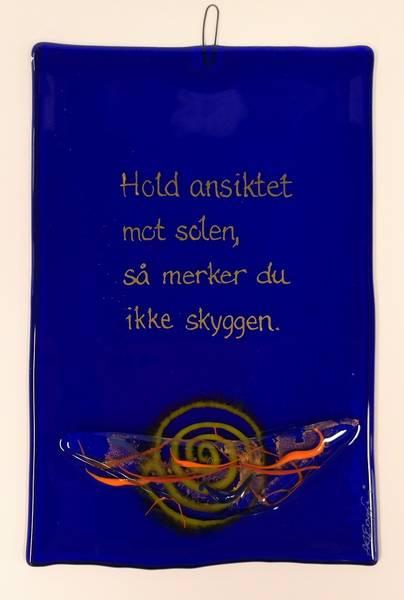 Bilde av Hustavle i glass, Hold ansiktet...