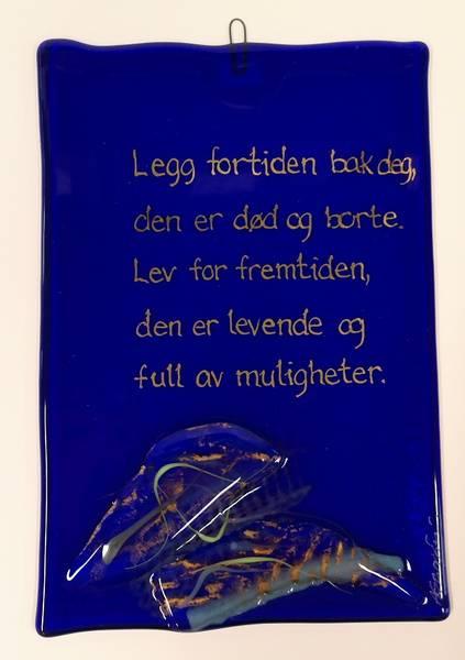 Bilde av Hustavle i glass, Legg fortiden bak..