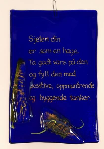 Bilde av Hustavle i glass, Sjelen din er..
