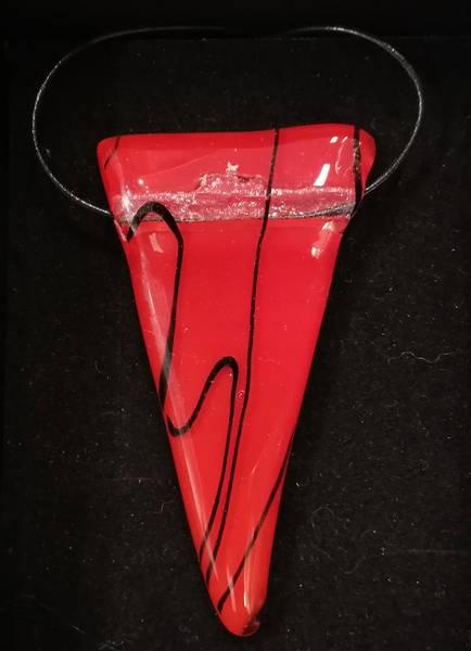 Bilde av Smykke i glass 001, rødt