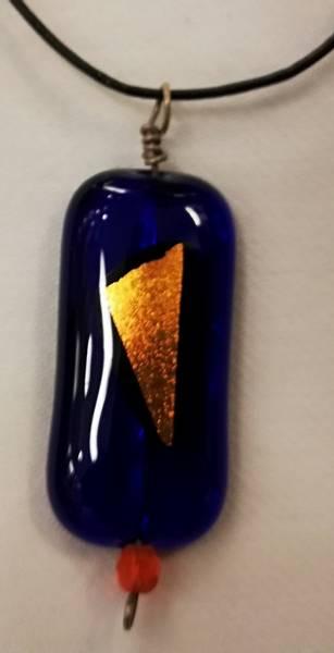 Bilde av Smykke 33, blå/orange