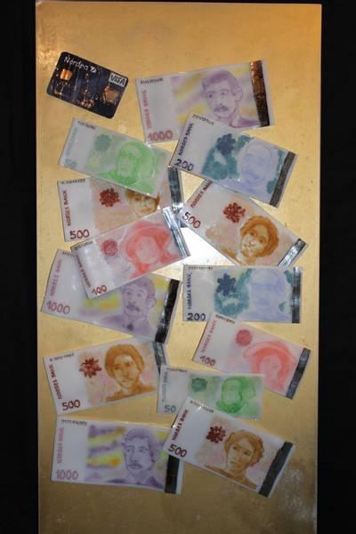 Bilde av Glassbilde penger