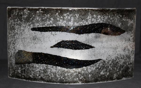 Bilde av Håndlaget vegglampe stor grå