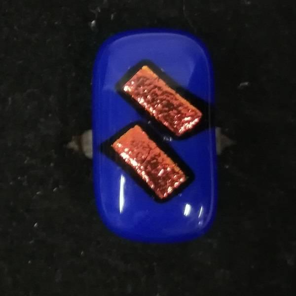 Bilde av Ring 08, blå/orange