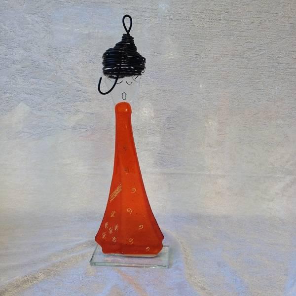 Bilde av Håndlaget syngedame i glass, orange