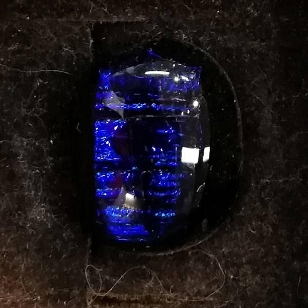 Bilde av Brosje 21, sort/blå
