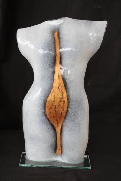 Bilde av Torso i glass hvit