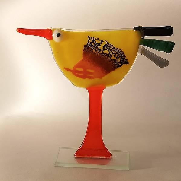 Bilde av Håndlaget høne i glass, 001