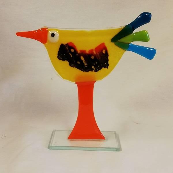 Bilde av Håndlaget høne i glass, 004