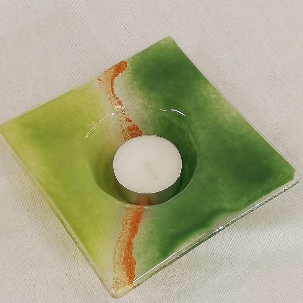 Bilde av Håndlaget T-lysestake i glass