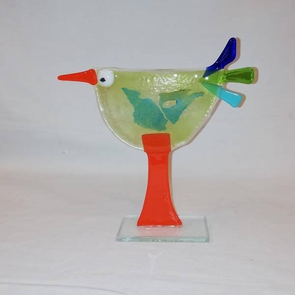 Bilde av Håndlaget høne i glass, 019