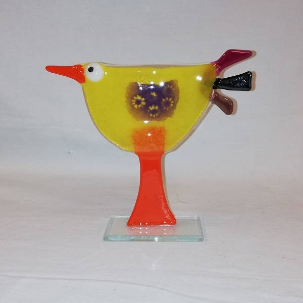 Bilde av Håndlaget høne i glass, 021
