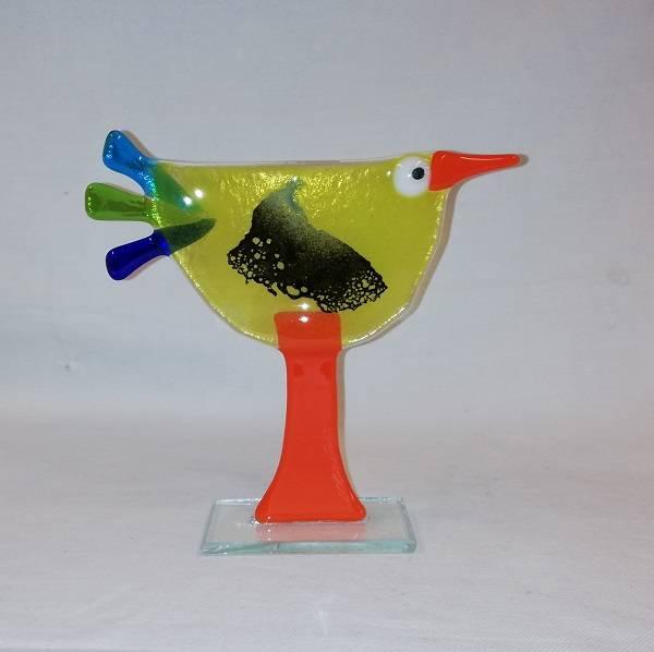 Bilde av Håndlaget høne i glass, 022
