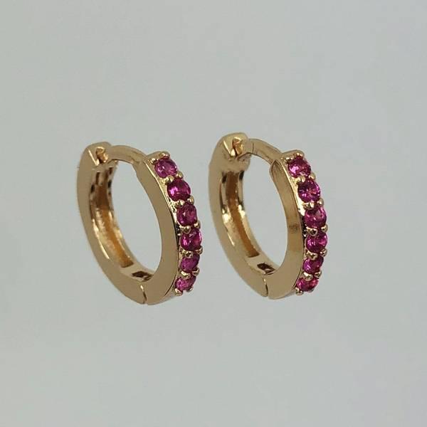 Allianseøredobber rosa stener gull