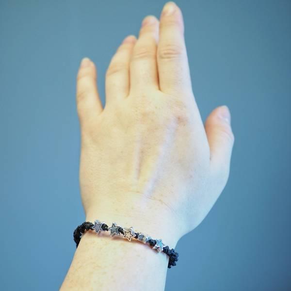 Armbånd/fotlenke svart