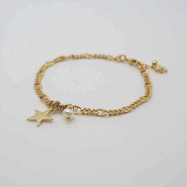 Armbånd med stjerne gullfarget