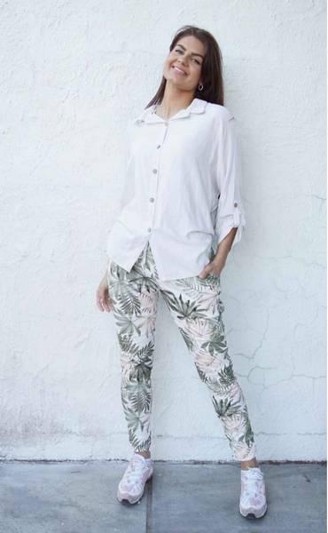 Tindra bukse blad grønn