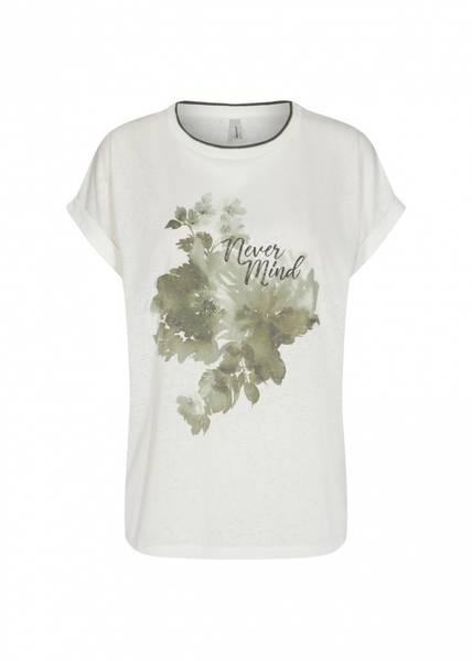 Soya t-shirt blomster khaki