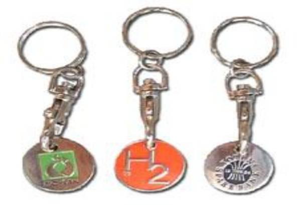 Nøkkelringer med mynt