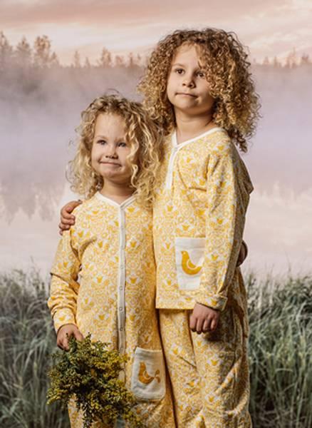 Bilde av Lilleba bambus/viskose sett til barn, gul