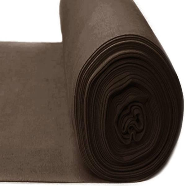 Rundstrikket ribb Cedar brown farge 46