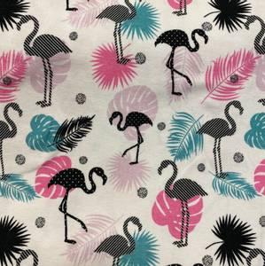 Bilde av Bomulljersey med Flamingo