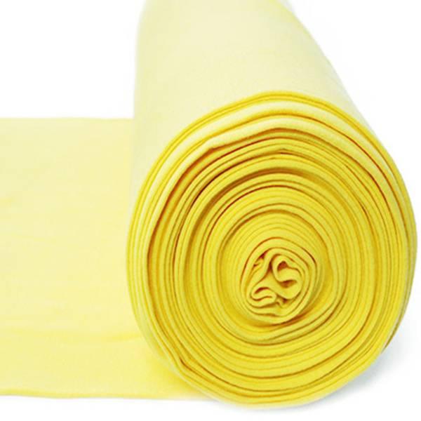 Rundstrikket ribb vanilje gul farge 36