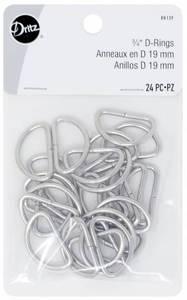 Bilde av D Rings 19mm Nickel 24stk