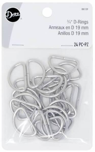 D Rings 19mm Nickel 24stk