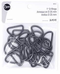 Bilde av D Rings 25mm svart 24stk