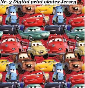 Bilde av Jersey Digital print med Cars