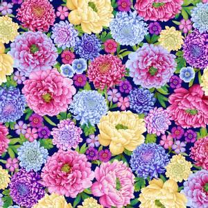 Bilde av Bomullstoff Floral Blomster