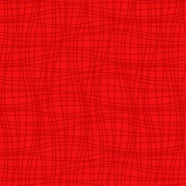 Bomullstoff Ebony cherry rød
