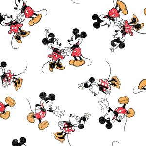 Bilde av Bomull stoff med Vintage Mickey mouse