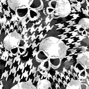 Bilde av French terry skull svart og hvit