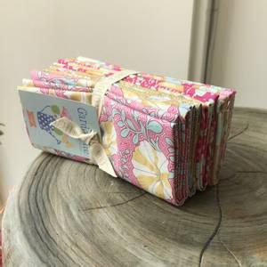 Bilde av Tilda GardenLife Fat Quarter Pakke Rosa/Sennep