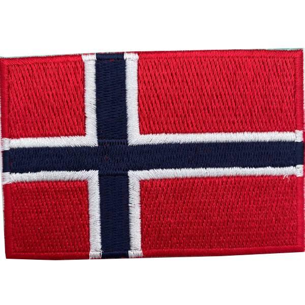 Norsk Flagg 9x6cmStrykemerke