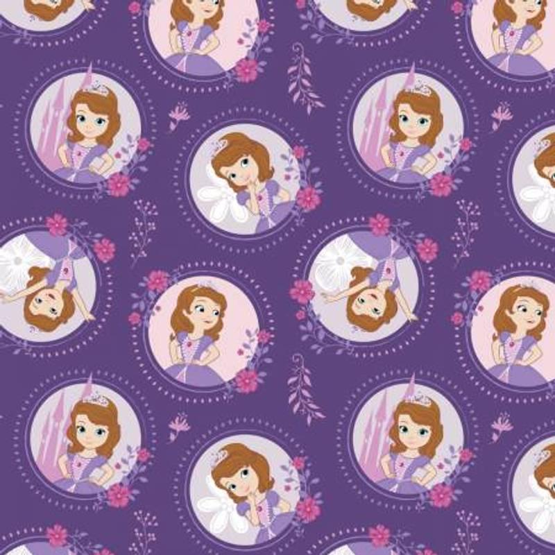 Pastel Lavender Sofia Stoff Lilla