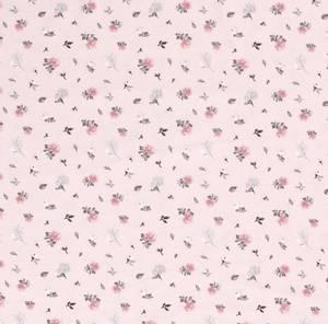 Bilde av Bomullsjersey Tanya Blomster lys rosa