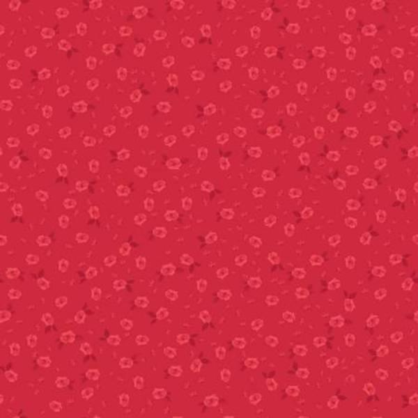 Bomull stoff Land Of Liberty Main basis rød blomster