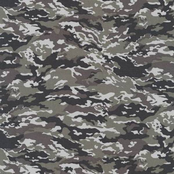Bomull stoff med Camouflage