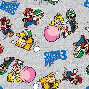 Bilde av Bomull stoff med Nintendo Go Mario & Friends