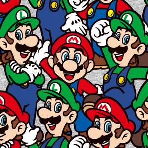 Bilde av Bomull stoff med Nintendo Go Mario & Lugi