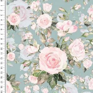 Bilde av French terry digital sweet roses blomster