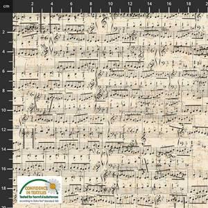Bilde av My Composition Musikk noter stoff Beige