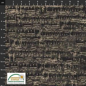 Bilde av My Composition Musikk noter stoff Svart