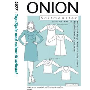 Bilde av Onion 2077 Top/Kjole med volant til strikstoff