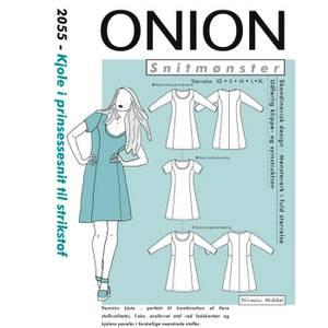 Bilde av Onion 2055 Kjole i prinsessesnit til strikstof