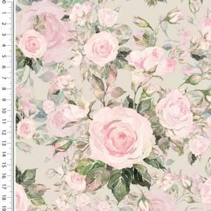 Bilde av French terry digital sweet roses blomster lys