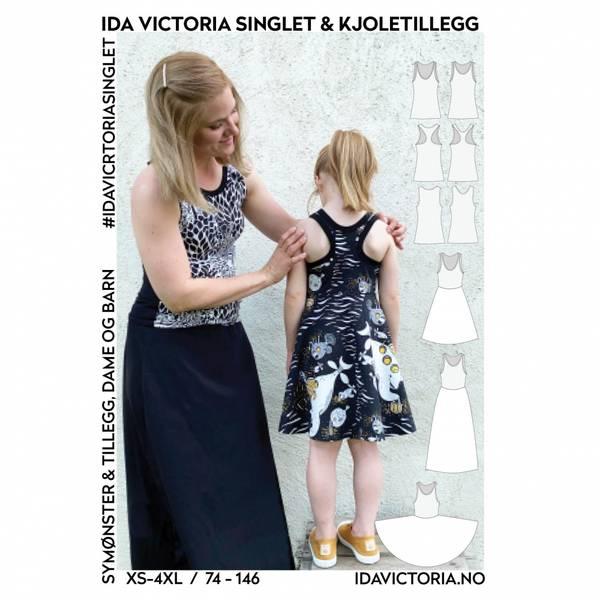 Ida Victoria singlet & kjoletillegg (XS-4XL + 74-146)